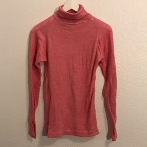 The North Face wool blend turtleneck pink!